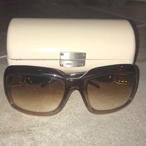 EUC Jimmy Choo Sunglasses brown ombré